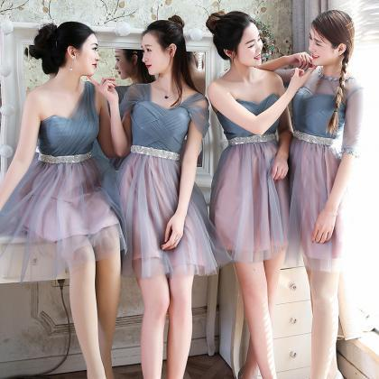 Short Bridesmaid Dress, Tulle Bride..