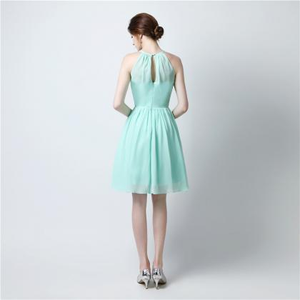 Short Bridesmaid Dress, Sleeveless ..