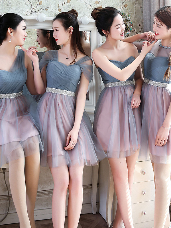 Short Bridesmaid Dress, Tulle Bridesmaid Dress, Mismatched Bridesmaid Dress, Dress for Wedding, Bridesmaid Dress, LB0187