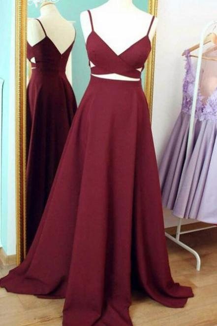 Long Prom Dresses, Sexy Prom Dresses, Straps Party Prom Dresses, bridesmaid dress, Burgundy Prom Dresses, Popular Prom Dresses,Prom Dresses Online, LB0082