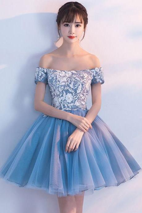 Short Homecoming Dress, Tulle Homecoming Dress, Beading Homecoming Dress, A-Line Junior School Dress, Applique Graduation Dress, Backless Homecoming Dress, LB0549