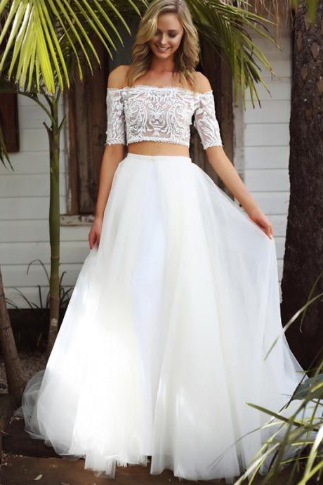 Detachable Wedding Dresses with Overskirts or Trains - Luulla
